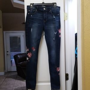Express Midrise Legging w/ flower Embroidery Sz8